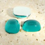 Teal Jewel - 15x11.5mm. Rectangle Domed Cabochons - Lots of 144