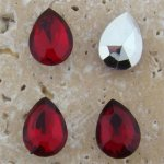 Ruby Jewel - 15x11mm. Pear Faceted Gem Jewels - Lots of 144