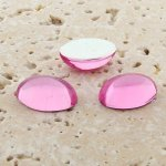 Rose Jewel - 12x10mm. Oval Domed Cabochons - Lots of 144