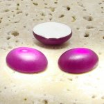Fuchsia Matte Frosted - 18x13mm. Oval Cabochons - Lots of 144