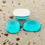 Aqua Jewel - 15x11.5mm. Rectangle Domed Cabochons - Lots of 144
