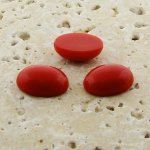 Red Opaque - 18x13mm. Oval Domed Cabochons - Lots of 144
