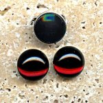 Garnet Jewel - 35mm. Round Domed Cabochons - Lots of 12
