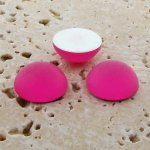 Pink Matte Frosted - 13mm. Round Domed Cabochons - Lots of 144