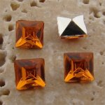 Madeira Topaz Jewel -6x6mm Square Faceted Gem Jewel - Lot of 144