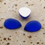 Sapphire Matte Frosted - 13x8.5mm. Pear Cabochons - Lots of 144