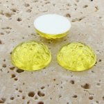 Jonquil Jewel Baroque Domed - 18mm. Cabochons - Lots of 144