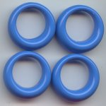 BLUE 27MM ROUND 1-HOLE PENDANTS - Lot of 12