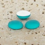 Aqua Matte Frosted - 10x8mm. Oval Domed Cabochons - Lots of 144