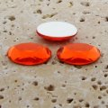 Orange Jewel Faceted - 18x13mm. Oval Cabochons - Lots of 144