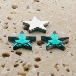 Teal Jewel Faceted - 15mm. Star Domed Cabochons - Lots of 144