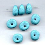 TURQUOISE MATRIX 13X26MM NUGGET BEADS - Lot of 12