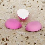 Rose Matte Frosted - 13x8.5mm. Pear Cabochons - Lots of 144