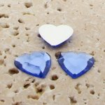 Light Sapphire Faceted - 15mm. Heart Cabochons - Lots of 144