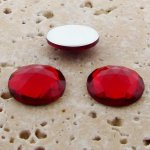 Ruby Jewel Multi Faceted - 15mm. Round Cabochons - Lots of 144