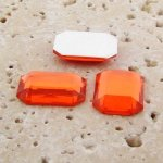 Orange Jewel Faceted - 18x13mm. Octagon Cabochons - Lots of 144