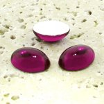 Fuchsia Jewel - 25x18mm. Oval Domed Cabochons - Lots of 72
