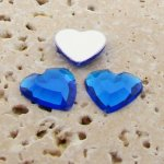 Sapphire Jewel Faceted - 15mm. Heart Cabochons - Lots of 144