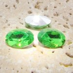 Peridot Jewel - 18x13mm. Oval Faceted Gem Jewels - Lots of 144