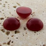 Cornelian Opaque - 11mm. Round Domed Cabochons - Lots of 144