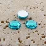 Aqua Jewel Faceted - 7mm. Round Cabochons - Lots of 144