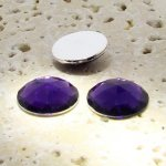 Amethyst Jewel Multi Faceted - 20mm Round Cabochons - Lot of 72
