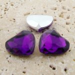 Amethyst Jewel - 18mm. Heart Faceted Gem Jewels - Lots of 144