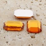 Madeira Topaz Faceted - 18x13mm. Octagon Cabochons - Lots of 144