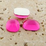 Pink Jewel - 15x11.5mm. Rectangle Domed Cabochons - Lots of 144