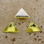 Lime Jonquil Jewel Faceted -13x13mm Triangle Cabochon-Lot of 144