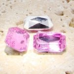 Rose Jewel - 14x10mm. Octagon Faceted Gem Jewels - Lots of 144