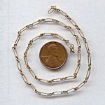 CABLE ELONGATED BRASS 7MM VINTAGE CHAIN - PRICE PER FOOT