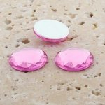Rose Jewel Multi Faceted - 13mm Round Cabochons - Lots of 144