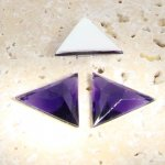 Amethyst Faceted - 18x18mm. Triangle Cabochons - Lots of 144
