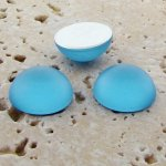 Light Sapphire Matte - 13mm. Round Domed Cabochons - Lots of 144