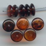 TORTOISE 4X10MM ROUND SPACER DISC BEADS - Lot of 12