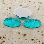 Aqua Jewel Baroque - 18x13mm. Oval Domed Cabochons - Lots of 144