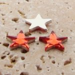 Orange Jewel Faceted - 15mm. Star Domed Cabochons - Lots of 144
