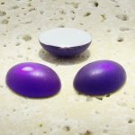 Purple Matte Frosted - 8x6mm. Oval Domed Cabochons - Lots of 144