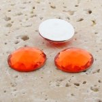 Orange Jewel Multi Faceted - 13mm Round Cabochons - Lots of 144