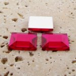 Fuchsia Jewel Faceted - 15mm. Square Cabochons - Lots of 144