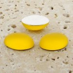 Jonquil Matte Frosted - 8x6mm. Oval Cabochons - Lots of 144