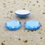 Light Sapphire Multi Faceted - 20mm Round Cabochons - Lot of 72