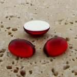 Ruby Jewel - 25x18mm. Oval Domed Cabochons - Lots of 72