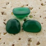 Jade Opaque - 15x11.5mm. Rectangle Domed Cabochons - Lots of 144
