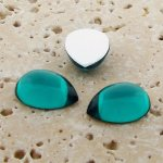 Teal Jewel - 13x8.5mm. Pear Domed Cabochons - Lots of 144