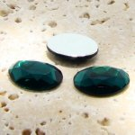 Emerald Jewel Faceted - 25x18mm. Oval Cabochons - Lots of 72