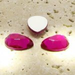 Fuchsia Jewel Faceted - 18x13mm. Pear Cabochons - Lots of 144