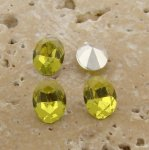 Lime Jonquil Jewel - 8x6mm Oval Faceted Gem Jewels - Lots of 144
