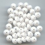 WHITE 8MM ROUND SPACER BEADS - Lot of 12
